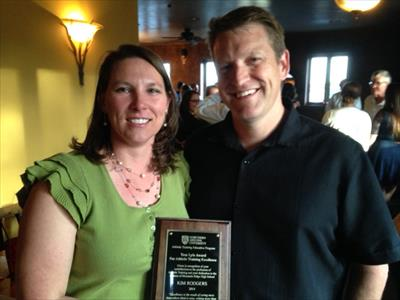 Kim Rodgers and Mark Rodgers, Computer Science '94 at NAU Awards Banquet