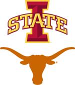 Iowa State vs. Texas logos